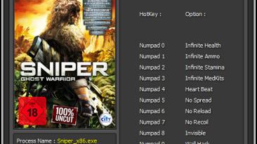Sniper: Ghost Warrior - Gold Edition: Трейнер/Trainer (+10) [1.3.0.0] {Enjoy}