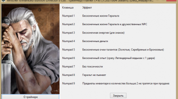 The Witcher: Enchanced Edition / Ведьмак: Расширенное Издание: Трейнер/Trainer (+9) [1.5.0.1304 Steam] {Ded_Mazay1991}