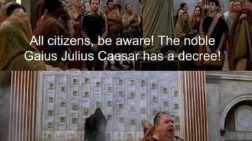 Граждане Рима, внемлите!