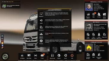 "Euro Truck Simulator 2 ""Sisl Flat UI для версии 1.37-1.38"""