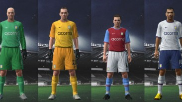 "PES 2009 ""Aston Villa 09-10 Kit Set by Nicklaaas"""