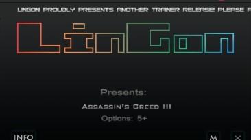 Assassin's Creed 3: Трейнер/Trainer (+5) [1.1] {LinGon}
