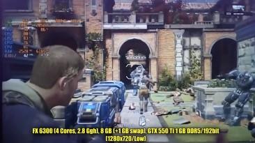 Gears of War 4 (Codex) на слабом ПК (2-6 Cores, 8-12 Ram, GeForce 630/550/1060, Radeon HD 7870)