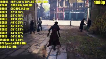 Assassins Creed Syndicate GTX 1080 Ti OC | 1080p - 1440p - 4K (2160p) ТЕСТ ЧАСТОТЫ КАДРОВ