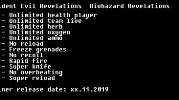 Resident Evil: Revelations: Трейнер/Trainer (+12) [STEAM] {LIRW / GHL}