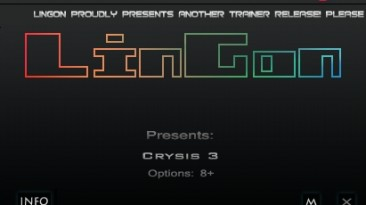Crysis 3 - Hunter Edition: Трейнер/Trainer (+8) [1.0] {LinGon}