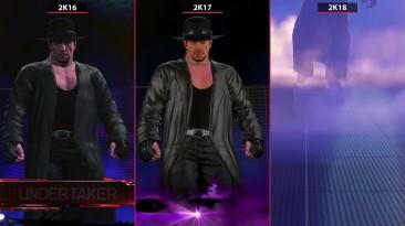 Сравнение выхода Гробовщика - WWE 2K16 vs. 2K17 vs. 2K18 (Candyland)