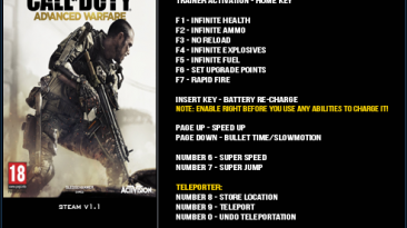 Call of Duty ~ Advanced Warfare: Трейнер/Trainer (+14) [1.1] {LinGon}
