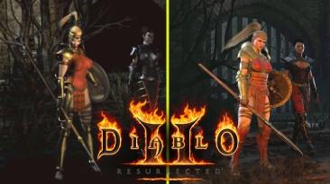 Новое видео сравнения графики оригинальной Diablo 2 и ремейка