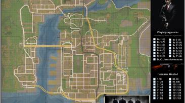 Mafia 2: DLC: Joe's Adventures: Подробная карта расположения всех Playboy журналов и плакатов розыска.