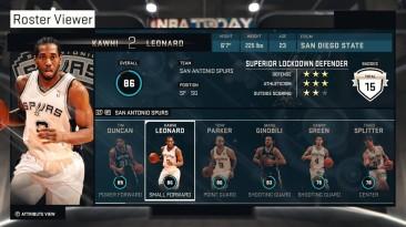 NBA 2K15 Официальное обновление составов 17-01-2015