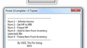 Postal 2 - Complete: Трейнер/Trainer (+3) [1416/Steam] {ViDZ}