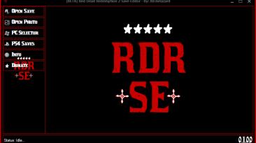 Red Dead Redemption 2: Редактор Сохранений / Save Editor [PC / PS4] [v.0.1.0.0] {XB36Hazard}