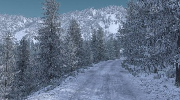 "American Truck Simulator ""Морозная зимняя погода v2.9 (1.38)"""