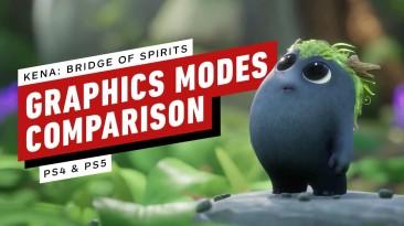 Сравнение графики Kena: Bridge of Spirits на PS4 и PS5