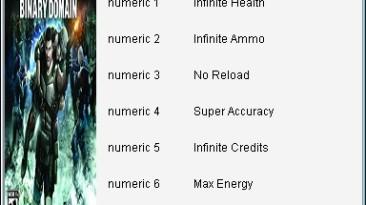 Binary Domain: Трейнер/Trainer (+7) [1.1/Update 1] {iNVOKE/DEViATED}