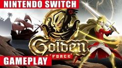 Видео игрового процесса приключенческого платформера Golden Force
