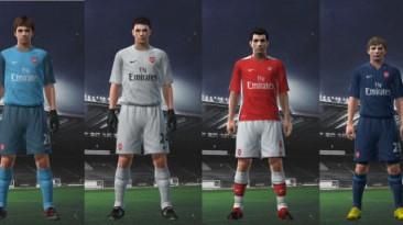 """PES 2009 """"Arsenal 09/10 Kit Set by Nicklaaas"""""""