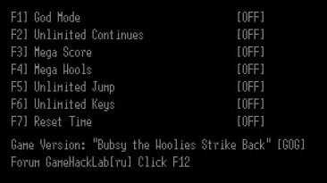 Bubsy the Woolies Strike Back: Трейнер/Trainer (+7) [GOG] {LIRW / GHL}