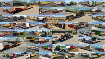 "Euro Truck Simulator 2 ""Пак низкорамников и платформ v9.5"""