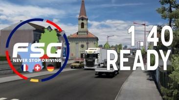 "Euro Truck Simulator 2 ""Карта: FSG v1.3.1 (1.40.x)"""