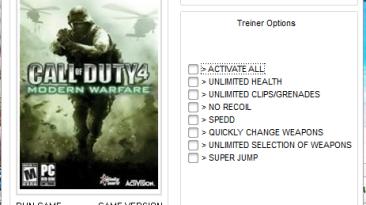 Call of Duty 4: Modern Warfare Трейнер/Trainer (+7) [1.7] {DenkA003}