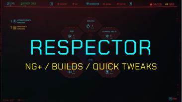 """Cyberpunk 2077 """"Respector - перенос и настройка персонажа между прохождениями"""""""