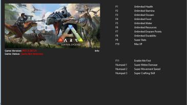 ARK: Survival Evolved: Трейнер/Trainer (+14) [267.21] {Kalas}