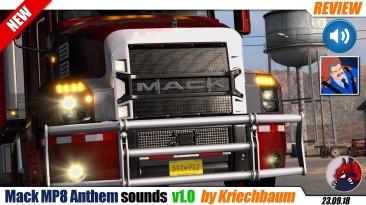 "American Truck Simulator Sound mod ""Mack MP8 Anthem sounds by Kapitan Kriechbaum"""