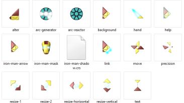 """Iron Man """"cursors"""""""