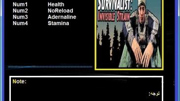 Survivalist: Invisible Strain: Трейнер/Trainer (+4) [1.0: Early Access] {Abolfazl.k}