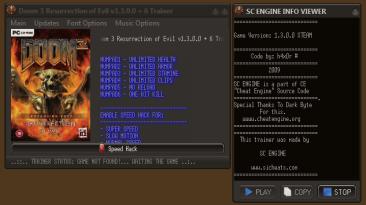 Doom 3: Resurrection of Evil: Трейнер/Trainer (+6) [v.1.3 / 1.3.1/ *STEAM] {h4x0r}