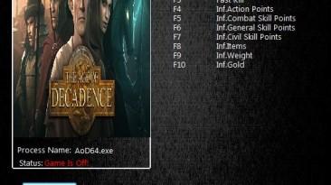 Age of Decadence: Трейнер/Trainer (+9) [1.5.0.0019: x64] {MrAntiFun}