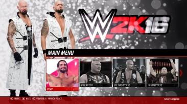 """WWE 2K16 """"Фон меню The Club"""""""