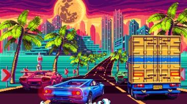 Кадры гоночной аркады 80's Overdrive, создаваемой эксклюзивно для 3DS