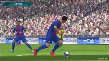 Видео геймплея мобильной игры серии PES с закрытого бета-теста