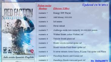 Red Faction - Armageddon: Трейнер (+12) [1.0 - DX11] {Delta10FY}