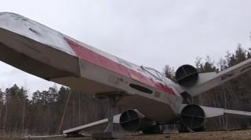 """В Якутии установили точную копию истребителя Люка Скайуокера из """"Звёздных войн"""""""