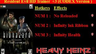 Resident Evil: HD Remaster: Трейнер/Trainer (+3) [1.0] {Heavy Heinz}