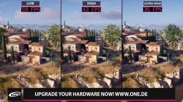 Assassin's Creed Odyssey - сравнение графики и разных настроек на ПК