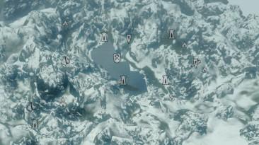 """Elder Scrolls 5: Skyrim """"Карты Каирна Душ и Забытой Долины"""""""