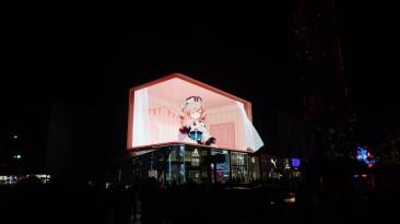 В Китае появилась 3D-реклама Genshin Impact - милая Барбара открывает окошко своей комнаты