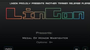 Medal of Honor - Warfighter: Трейнер/Trainer (+9) [1.0.0.3] {LinGon}
