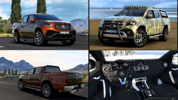 """Euro Truck Simulator 2 """"Mercedes-Benz W470 X-Class V3.1 (1.40.x)"""""""