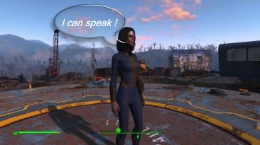 """Fallout 4 """"Живой главный герой - Коментарии игрока и поворот головой"""""""