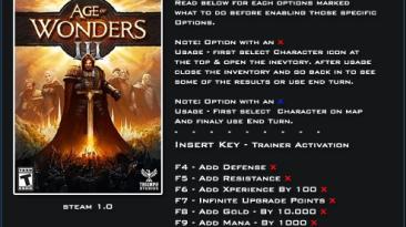 Age of Wonders 3: Трейнер/Trainer (+13) [1.0] {LinGon}