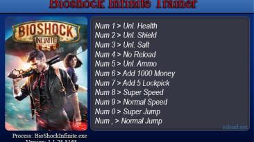 BioShock Infinite: Трейнер/Trainer (+9) [1.1.25.5165] {SeryogaSK}