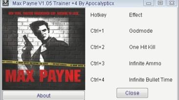 Max Payne: Трейнер/Trainer (+4) [1.05] {Apocalypticx}