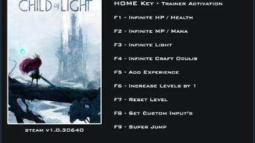 Child of Light: Трейнер/Trainer (+19) [1.0.30640] {LinGon}
