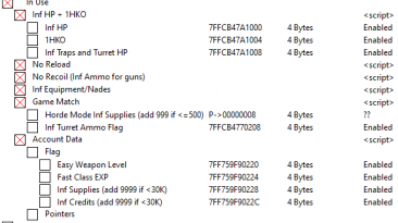 World War Z: Таблица для Cheat Engine [UPD:21.04.2020/Epic Store] {TheByteSize}